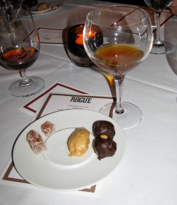 Adobo truffle, smokey caramel mousse, habanero pate de fruits paired with chipotle ale