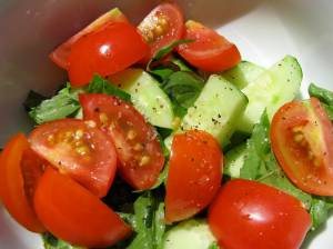 Post tomato epiphany - tomatoes salad from my garden