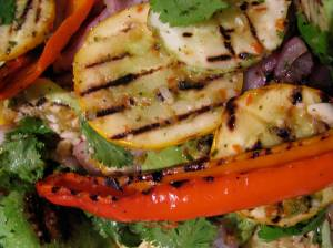grilled patty pans
