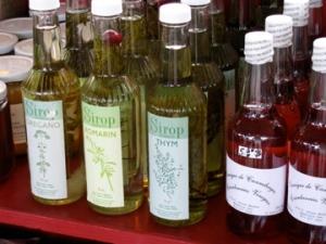 Herb syrups in Jean Talon Market