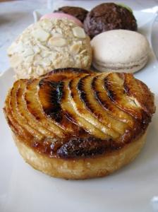 Apple tart, cookies and macaroons