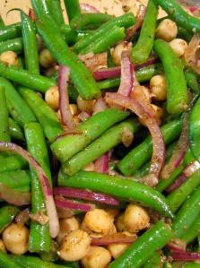 Harissa bean salad