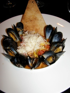 Fettucine with mussels