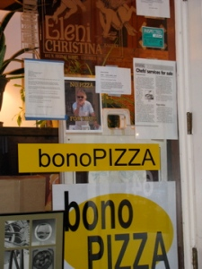 Bono to go at the Eleni Christina bakery