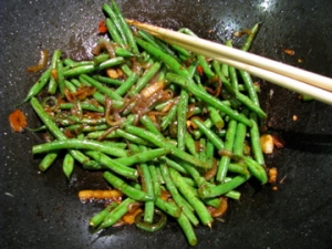 Stir fried haricot verts