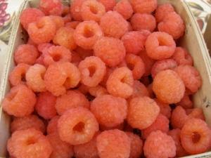 Amber raspberries