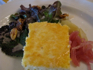 Cheddar Cheese Tart and Salad