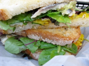 White anchovy sandwich