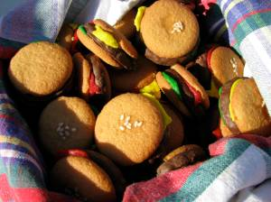 mini-hamburger cookies