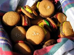 mini-hamburger cookies